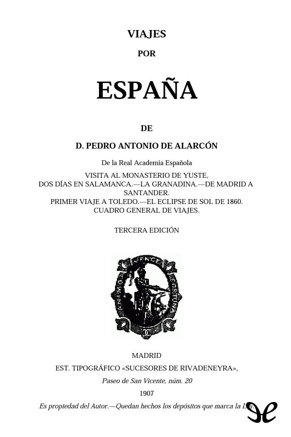 tapa de Alarc�n, Pedro Antonio de - Viajes por Espa�a