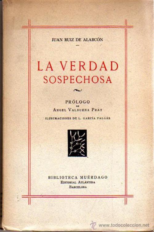 tapa de Alarc�n y Mendoza, Juan Ruiz de - La verdad sospechosa