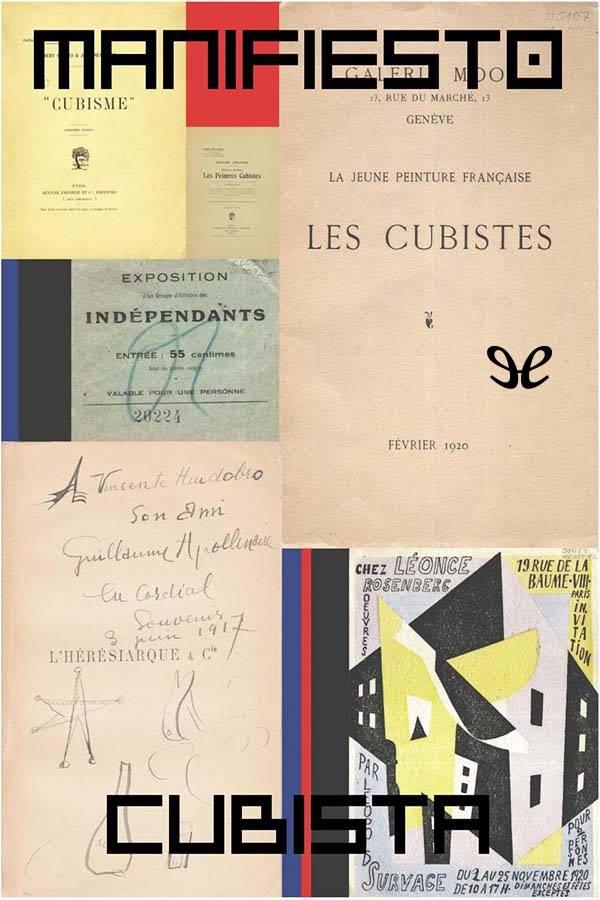 tapa de Apollinaire, Guillaume - Manifiesto Cubista