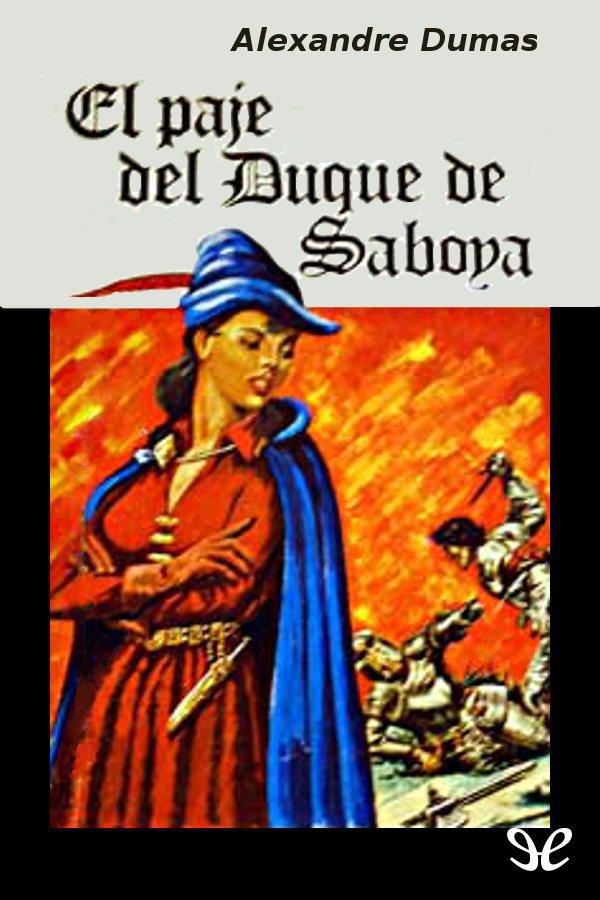 tapa de Dumas, Alejandro - El Paje del duque de Saboya