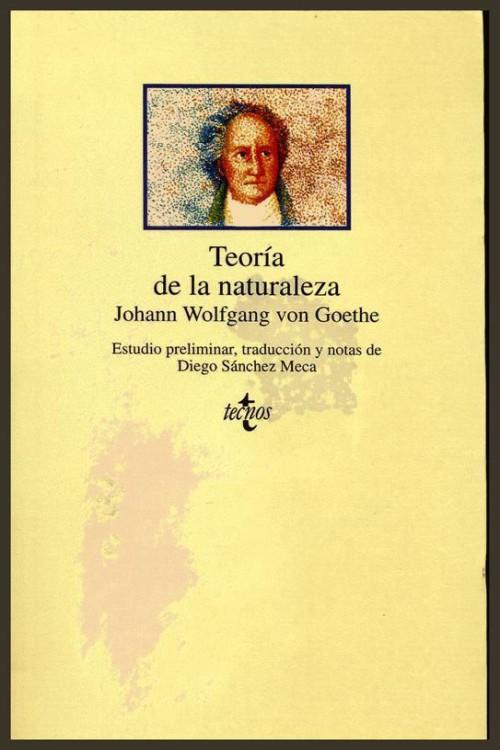 tapa de Goethe, Johann Wolfgang - Teor�a de la naturaleza