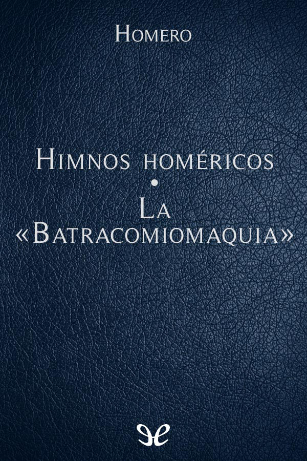 Homero - Batracomiomaquia Margines