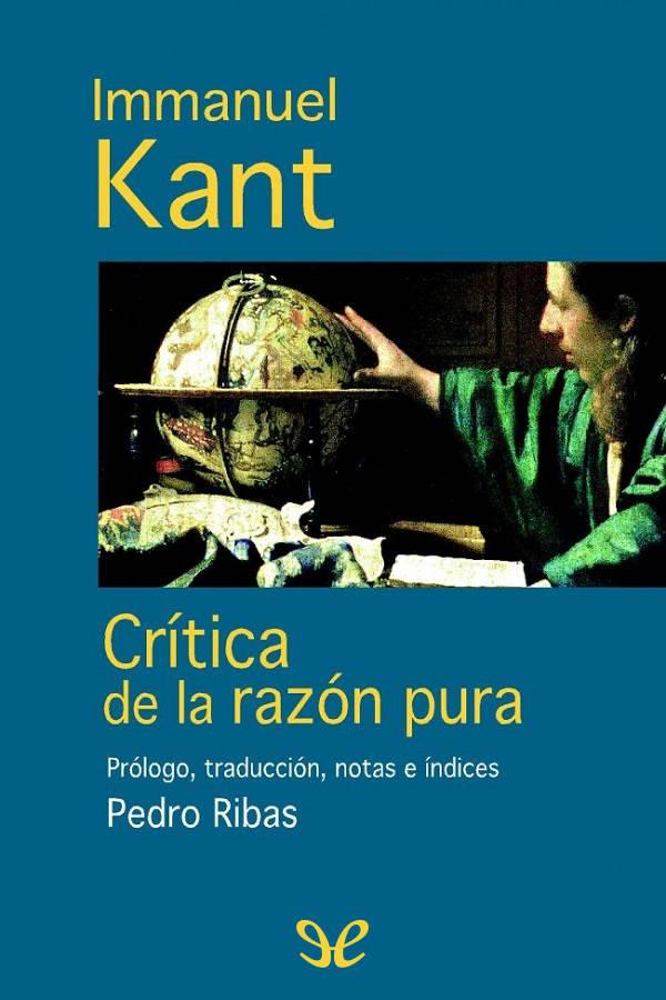 tapa de Kant, Immanuel - Cr�tica de la raz�n pura
