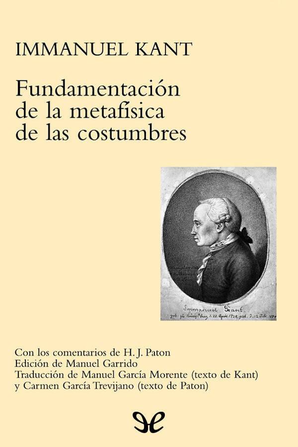 tapa de Kant, Immanuel - Fundamentaci�n de la metaf�sica de las costumbres