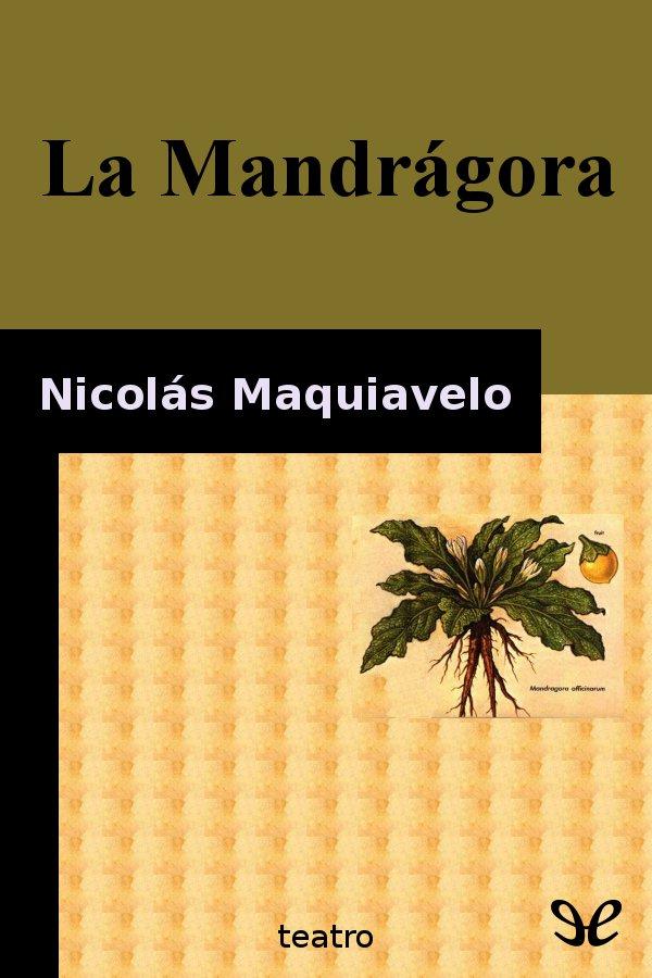 tapa de Maquiavelo, Nicol�s - La Mandr�gora
