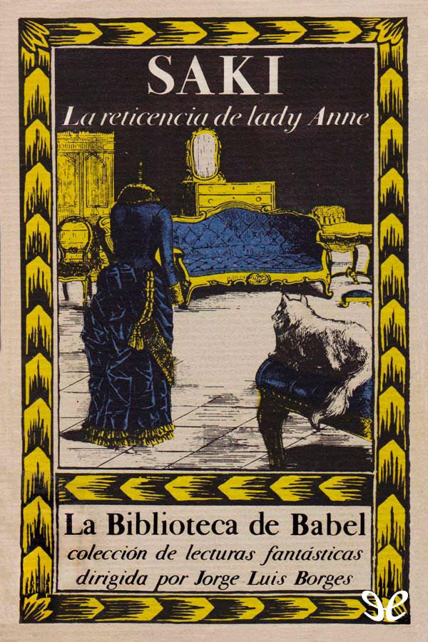 Saki - La Reticencia de Lady Anne