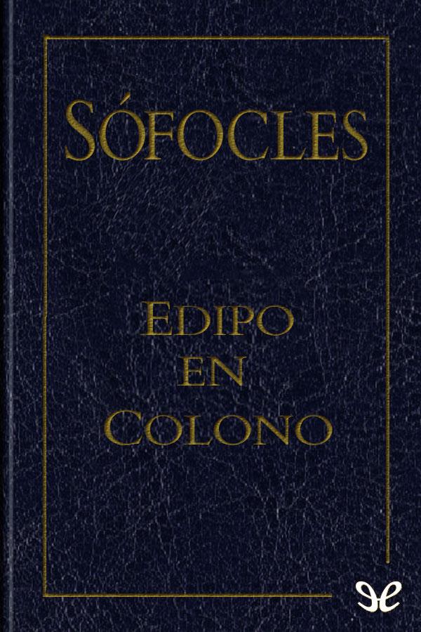 tapa de S�focles - Edipo en Colono