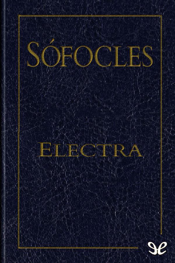 tapa de S�focles - Electra