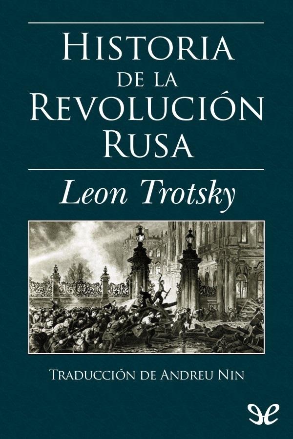 tapa de Trotsky, Le�n - Historia de la revoluci�n rusa