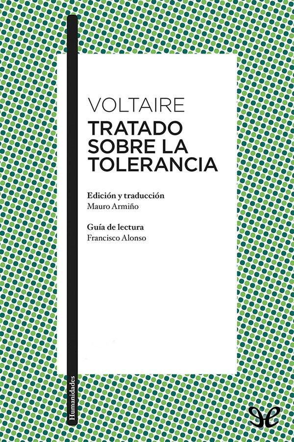 tapa de Voltaire - Tratado sobre la tolerancia