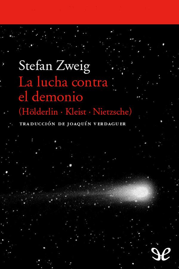tapa de Zweig Stefan - La Lucha contra el demonio